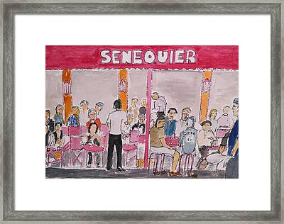 Cafe Senequier St Tropez 2012 Framed Print by Bill White