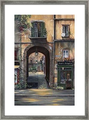 Cafe Sienna Italy Framed Print by Barbara Davies