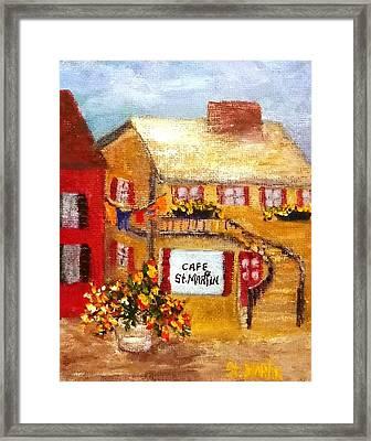 Cafe St.martin Framed Print by Annie St Martin