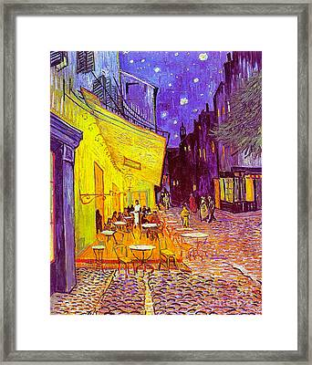 Cafe Terrace 1888 Framed Print by Padre Art