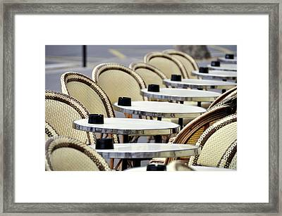 Cafe Terrace In Paris Framed Print