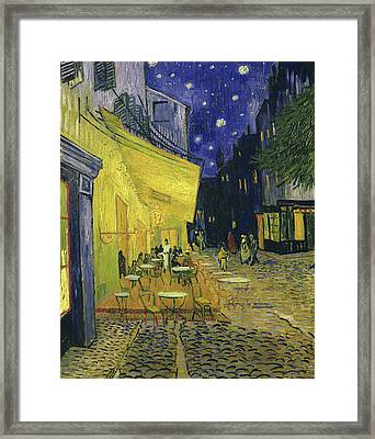 Cafe Terrace, Place Du Forum, Arles Framed Print by Vincent Van Gogh