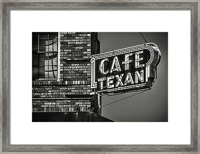 Cafe Texan Framed Print