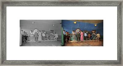 Cafe - The Half Way Point 1938 - Side By Side Framed Print