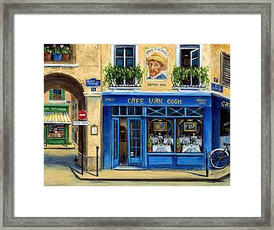 Cafe Van Gogh II Framed Print by Marilyn Dunlap