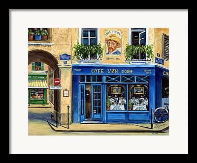 Rue Lepic Framed Prints