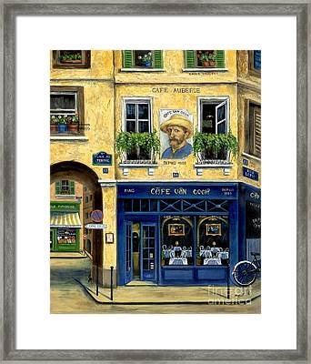 Cafe Van Gogh Framed Print by Marilyn Dunlap