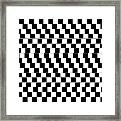 Cafe Wall Optical Illusion Framed Print