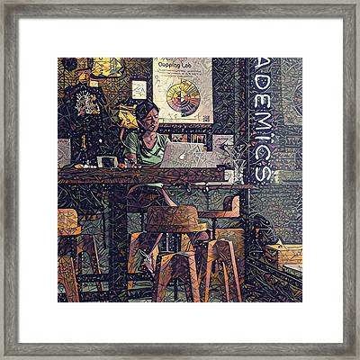 Cafe Working Framed Print by Yury Malkov