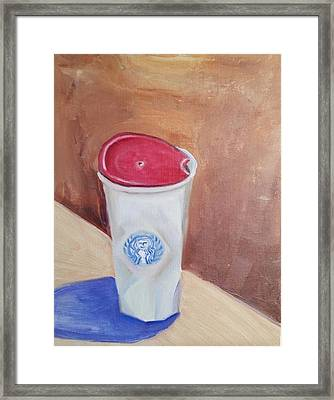 Framed Print featuring the painting Caffe' Latte by Carol Duarte