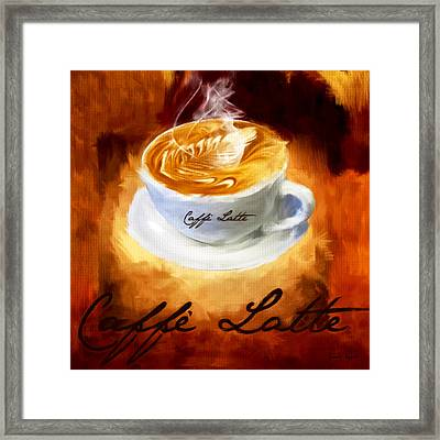 Caffe Latte Framed Print by Lourry Legarde