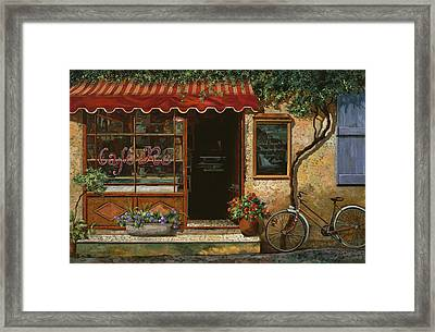 caffe Re Framed Print by Guido Borelli