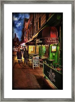 Caffe Reggio Framed Print by Lee Dos Santos