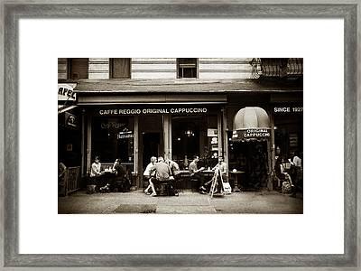 Caffe Reggio Nyc Framed Print by Jessica Jenney