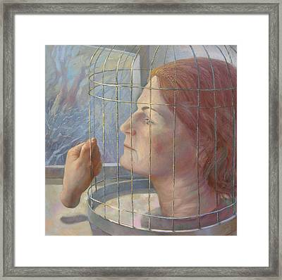 Caged Framed Print