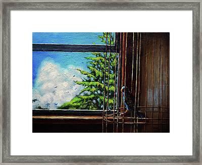 Caged Bird Framed Print