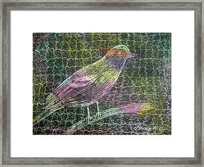 Caged Bird Framed Print by Marita McVeigh