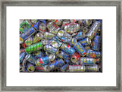 Caged Cans Framed Print