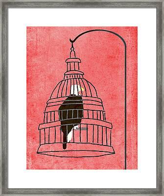 Caged Eagle Framed Print
