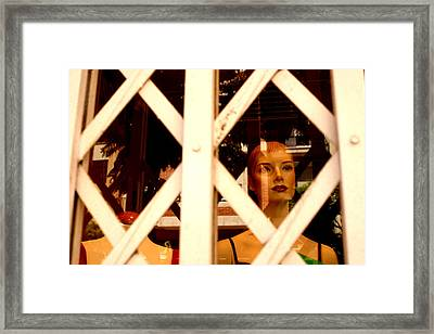 Caged For Lunch Framed Print by Jez C Self