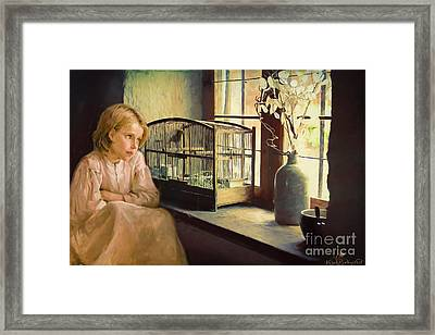 Caged Framed Print