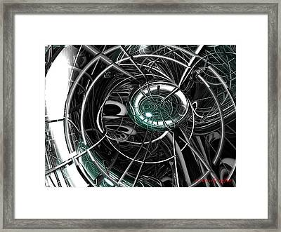 Caged Framed Print by Michael Burleigh