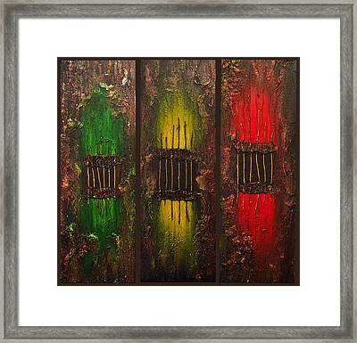 Framed Print featuring the painting Caged Abstract by Patricia Lintner
