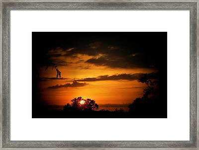 Caged Sunset Framed Print