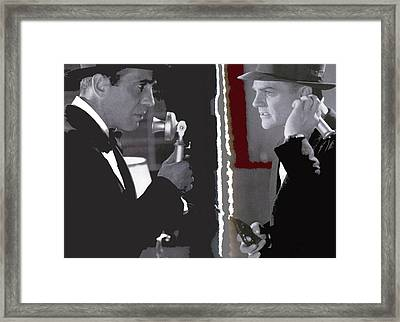 Cagney Bogart Angels With Dirty Faces 1938-2016  Framed Print by David Lee Guss