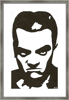 Cagney Framed Print by Michelle Kinzler