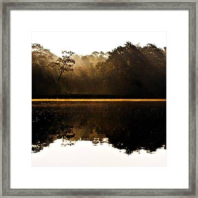 Framed Print featuring the photograph Cahooque Creek Sunrise by Bob Decker
