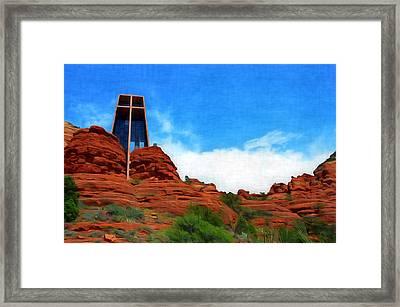 Chapel Of The Holy Cross - Sedona Arizona Framed Print