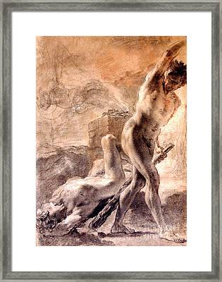 Cain And Abel Framed Print by Pg Reproductions