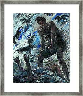 Cain Framed Print by Lovis Corinth