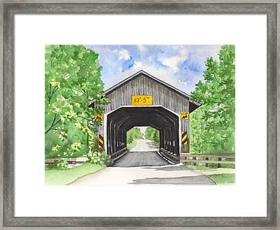 Caine Road Bridge Framed Print