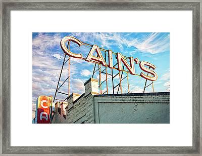 Cains Ballroom Music Hall - Downtown Tulsa Cityscape Framed Print