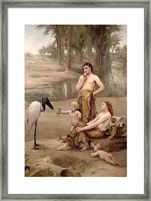 Cain's First Crime Framed Print by Charles Napier Kennedy
