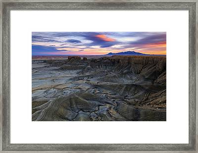 Framed Print featuring the photograph Cainville Badlands by Johnny Adolphson