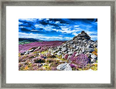 Cairn And Heather Framed Print