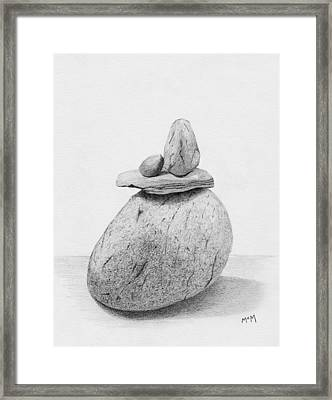 Cairn Drawing Framed Print by Garry McMichael