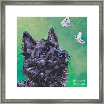 Cairn Terrier Framed Print by Lee Ann Shepard