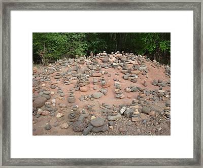 Cairns At Buddha Beach Framed Print by YT Photo