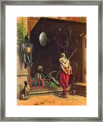 Cairo Arms Merchant 1870 Framed Print