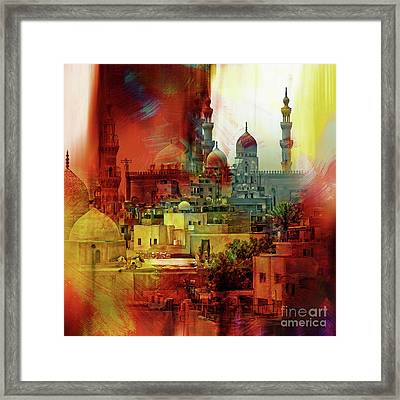 Cairo Egypt Art 01 Framed Print by Gull G