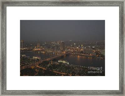 Cairo Smog Framed Print by Darcy Michaelchuk
