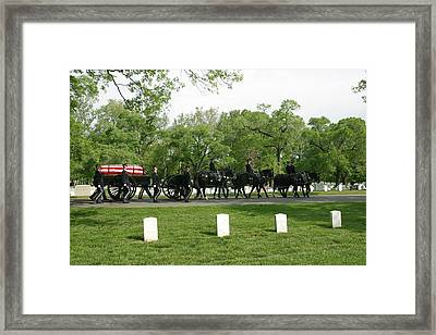 Caisson On The Way To A Burial Site Framed Print