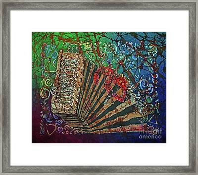 Cajun Accordian Framed Print by Sue Duda