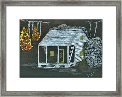 Cajun Bonfires Framed Print by Fran Hoffpauir
