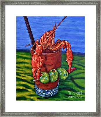Cajun Cocktail Framed Print by JoAnn Wheeler