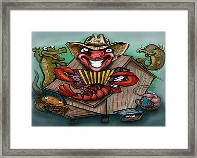 Cajun Critters Framed Print by Kevin Middleton
